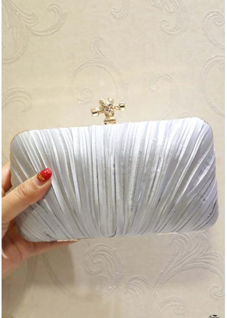 New Pleated Velvet Cloth Square Slung Dinner Handbags T901556157276