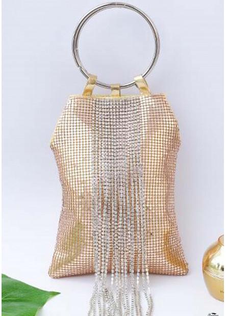 Portable Aluminum Tassel Banquet Handbags T901556174663