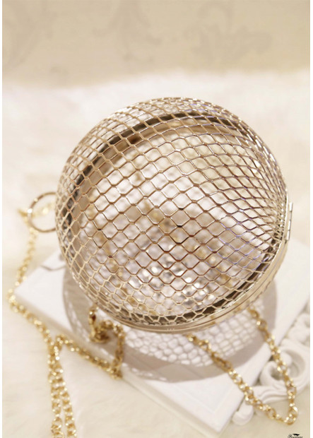 New Metal Tennis Hollow Dinner Diagonal Handbags T901556181989
