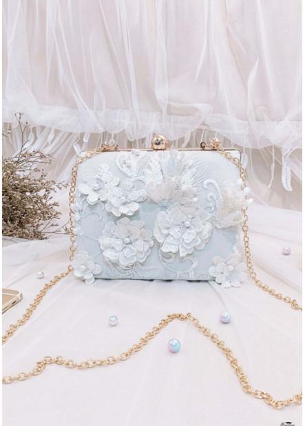 New Retro Flower Embroidery Chain Handbags T901556183062