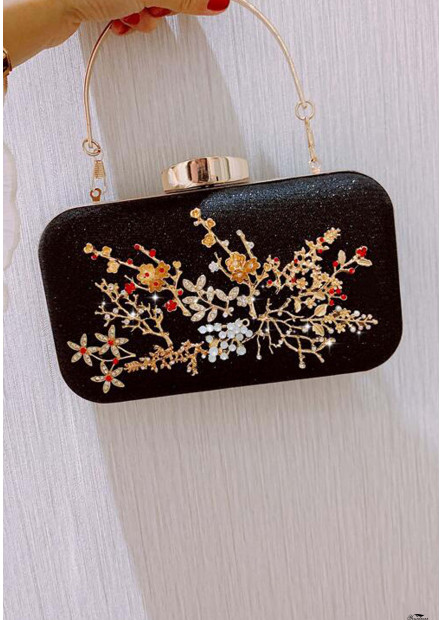 New Fashion Fairy Cute Flower Diamond Dinner Party Bags T901556258727