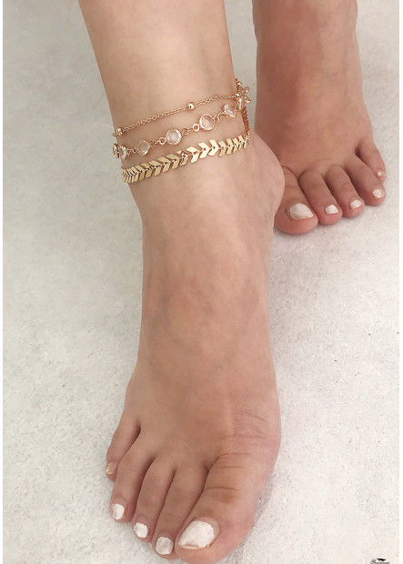 Crystal Footwear Anklets T901556414755