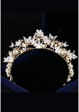 Butterfly Flower Crystal Tiaras T901556611359