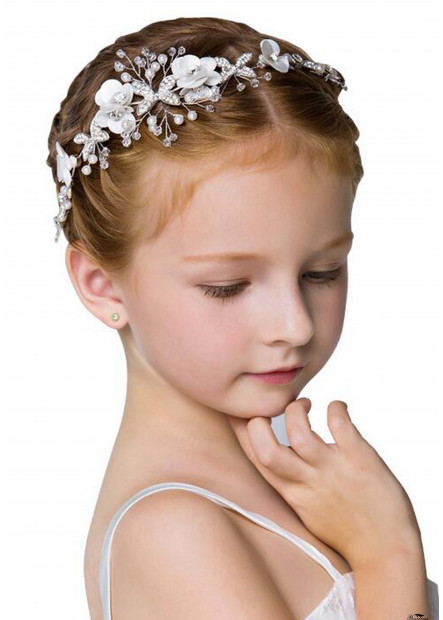 Flower Girl Wedding Pearl Headbands T901556616991