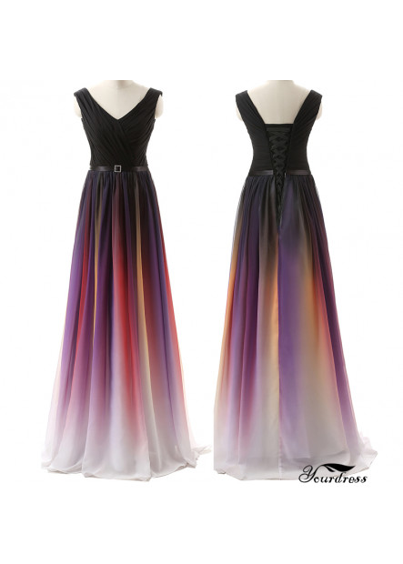 2020 Double Shoulder Strap Coloured Evening Dress T901553676430
