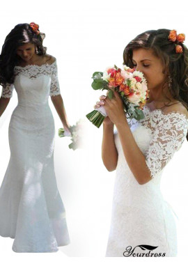 Short Sleeves Mermaid Wedding Dresses Ireland Online