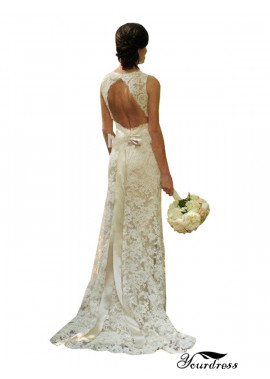 Sheath Backless Lace Wedding Dress Near Me With Sash 2020