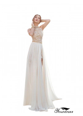 Yourdress Slim Long Train Simple Wedding Dresses With Slit
