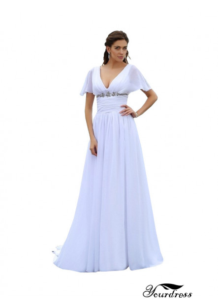 Yourdress 2021 Beach Plus Size Wedding Dresses