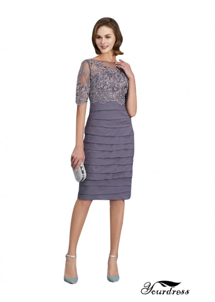 Yourdress UK Short Mother Of The Bride Dresses With Sleeves