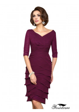 Yourdress Short Mother Of The Bride Dresses Sheath 2021
