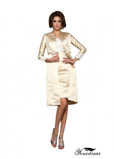 Yourdress Mother Of The Groom Dresses With Jackets Knee Length