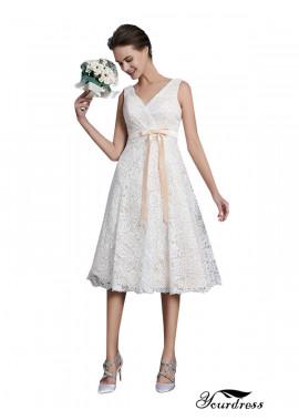 Yourdress 2020 Beach Short Lace Wedding Dresses