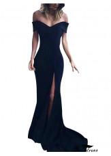 Buy Black Cheap Long Prom Evening Dresses For Women