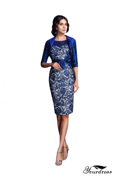 Yourdress Elegant Short Dresses For Mother Of The Bride With Jackets