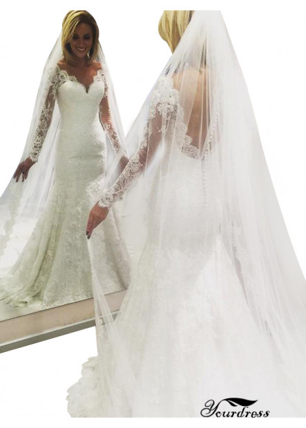 Yourdress 2021 Lace Wedding Dress