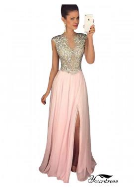 Yourdress Pink Long Evening Dress