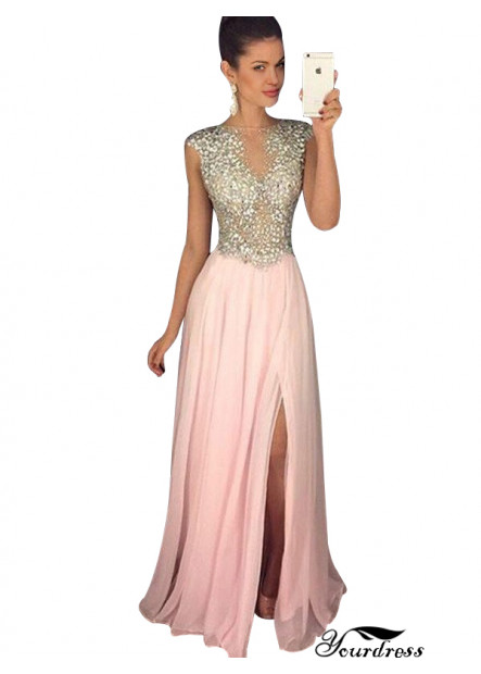 Yourdress Affordable Pink Long Evening Dress For Celebrity Party