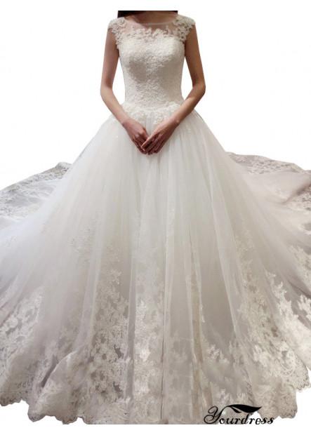 Yourdress 2021 Beach Wedding Ball Gowns