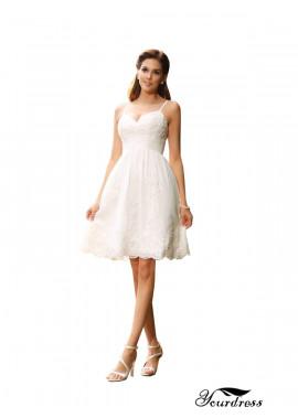 Yourdress 2021 Beach Short Lace Wedding Dresses