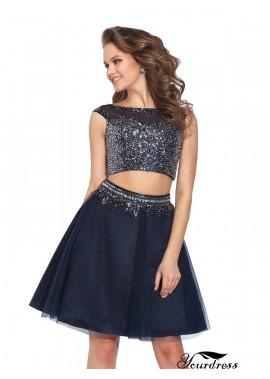 Yourdress 2 Piece Short Homecoming Prom Evening Dress