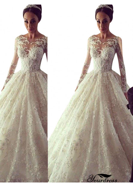 Yourdress 2021 Lace Ball Gowns