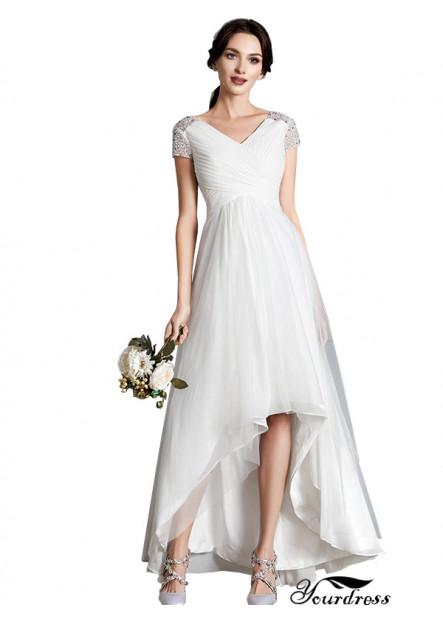 Yourdress 2021 Beach Short Wedding Dresses