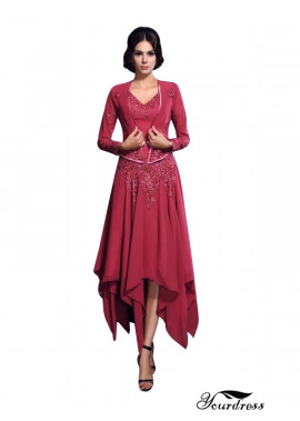 Yourdress Mother Of The Bride Dresses Tea Length With Jacket