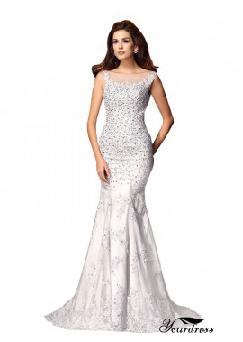 Yourdress Sexy Full Beading Evening Mermaid Prom Evening Dress