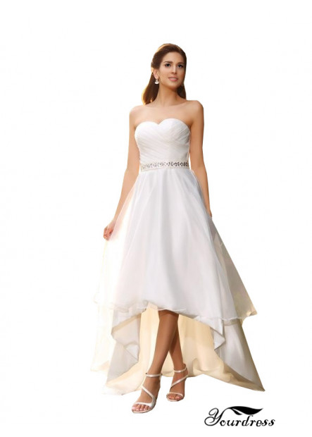 Yourdress 2021 Cheap Short Wedding Dresses Asymmetric UK