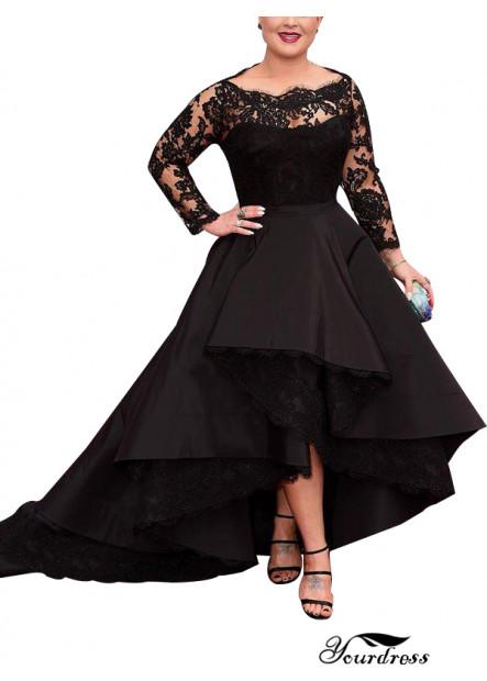 Yourdress Black Plus Size Prom Evening Dress For Mother Wear UK Online