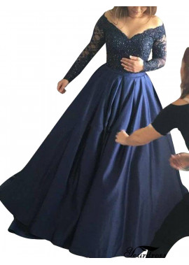 Tmdress Long Sleeve Lace Long Prom Evening Dress