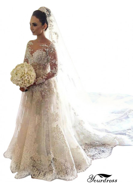 Yourdress 2021 Sexy Best Lace Wedding Dress For Sale