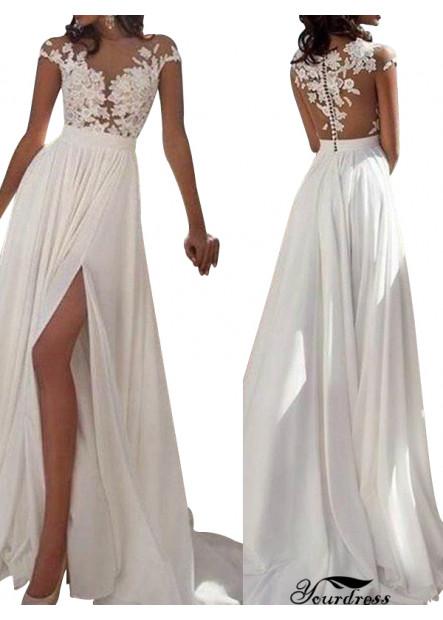 Modest Affordable Wedding Dress Long Evening Dress
