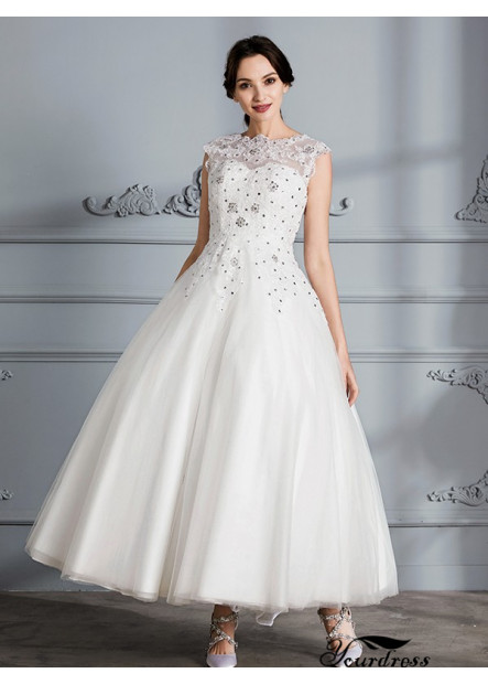 Yourdress 2021 Beach Wedding Ball Gowns