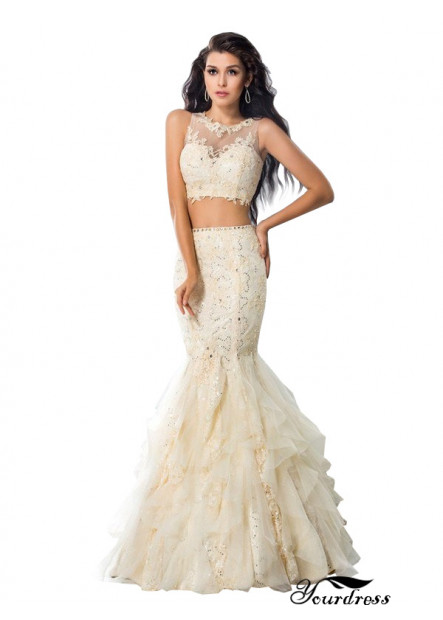 Yourdress Sexy Two Piece Long Mermaid Prom Evening Dress