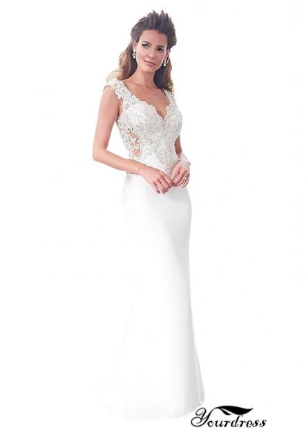 Summer Long Mermaid Wedding Dress With Cap Sleeves
