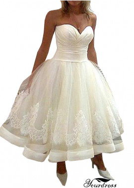 Tmdress Short Plus Size Wedding Dress