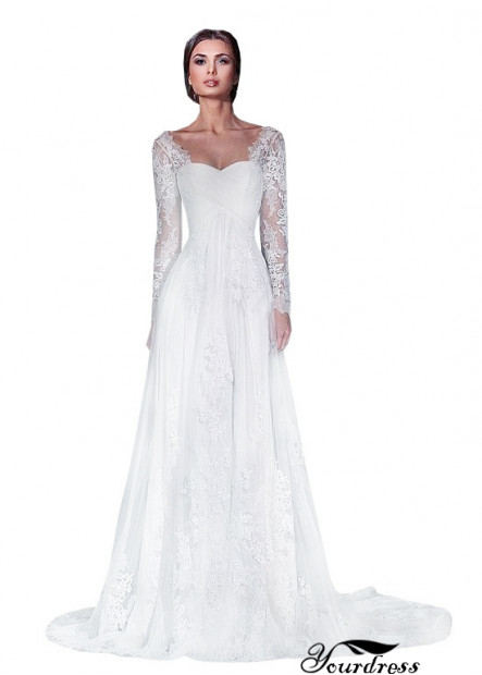 Yourdress Fitted Vintage Lace Wedding Dresses