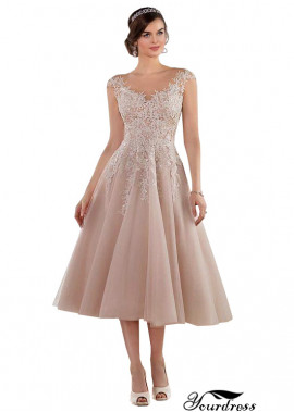 Yourdress Tea Length Dress For Winter Wedding Guest  UK