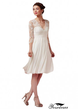 2020 Short Wedding Dress Online UK With Sleeves