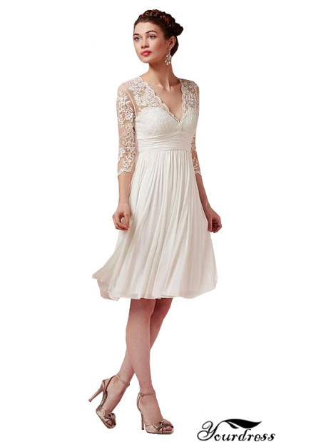 2021 Short Wedding Dress Online UK With Sleeves