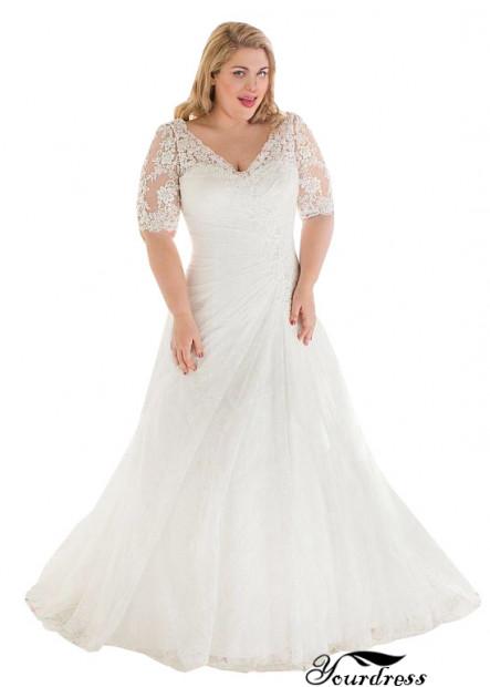 Yourdress Plus Size V Neck Wedding Dresses Over 100