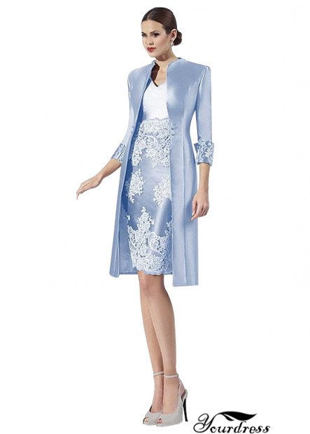 Mother Of The Bride Dresses With Jackets Knee Length Winter