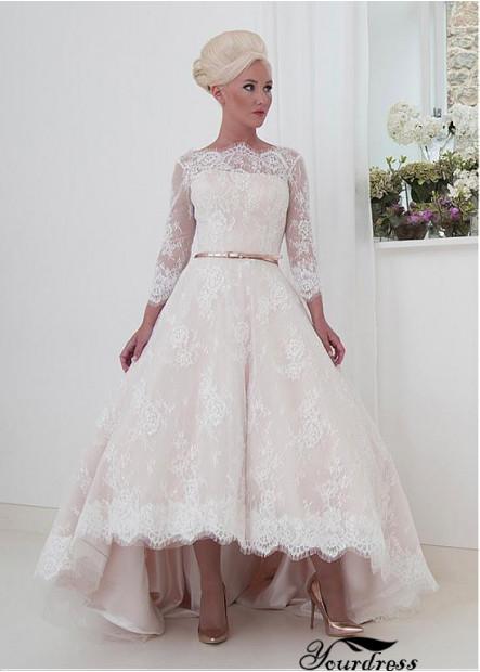 Yourdress Short Lace Wedding Dress