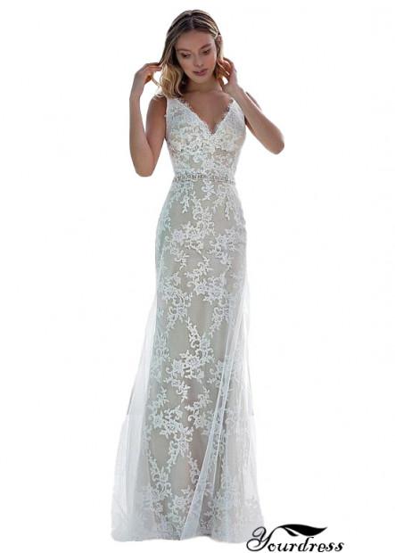 Online Ocean Wedding Dress Lace Sheath Dresses Online