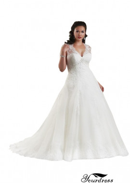 Yourdress Women Plus Size Deep V Wedding Dresses UK Online Sale