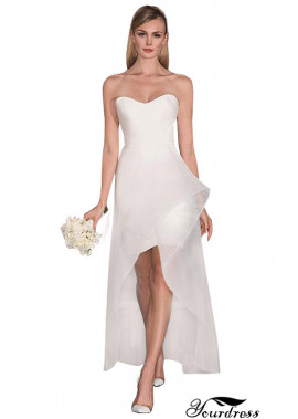 Yourdress High Low Short Wedding Dress