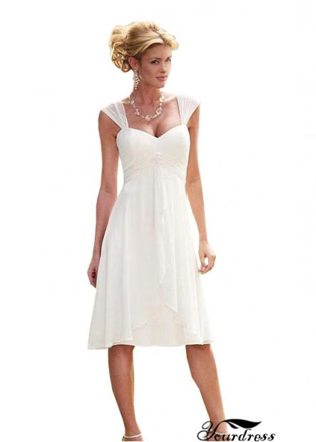 Yourdress Short A Line  Keen Length Wedding Dress