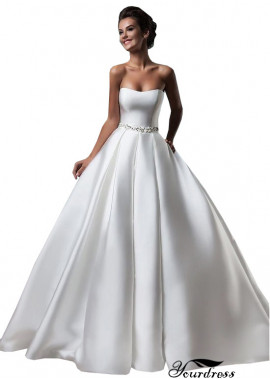Yourdress Strapless Satin Wedding Ball Gowns UK Shop